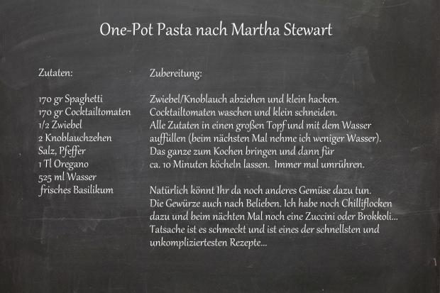 One-Pot Pasta nach Martha Stewart